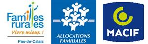 nos partenaires : Familles Rurales, Caf et Macif